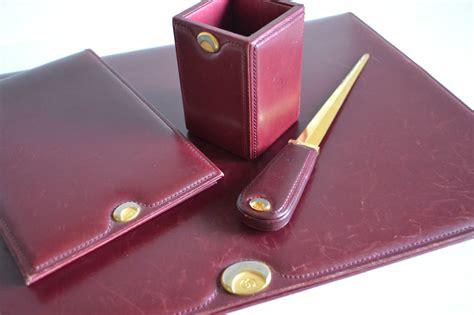 red leather desk pad gucci vintage red leather desk set blotter note pad letter