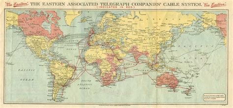 eastern world map history of the atlantic cable submarine telegraphy