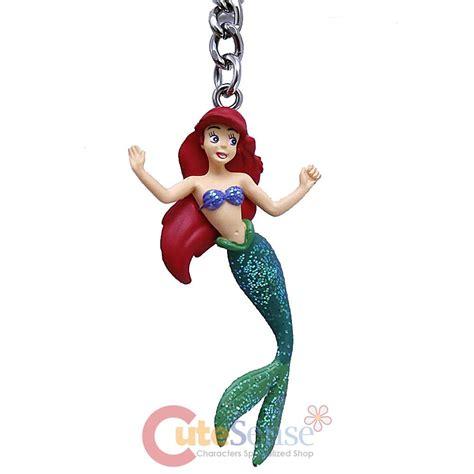 Figure The Mermaid Family disney princess mermaid ariel key chain 3d pvc figure key holder ebay
