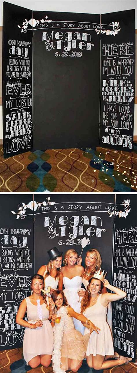 diy chalkboard photo booth top 10 diy projects for rustic wedding ideas