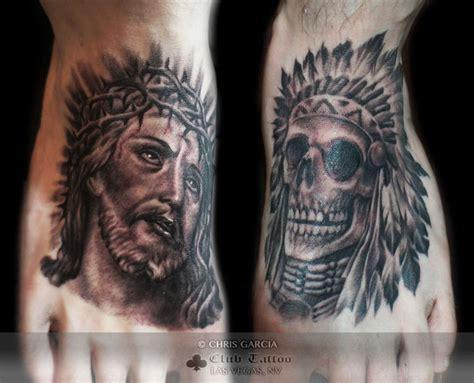 native american cross tattoos chrisgarcia american dress black and grey