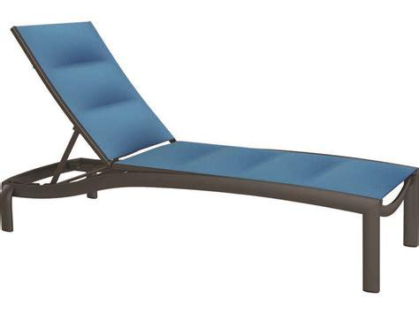 tropitone chaise lounge tropitone kor padded sling aluminum chaise lounge armless