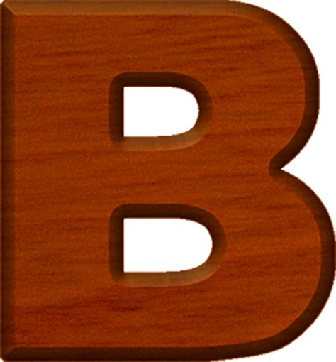 the b presentation alphabets cherry wood letter b