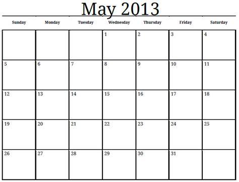 Calendar May 2013 May 2013 Activity Calendar Babcock Community Care Centre