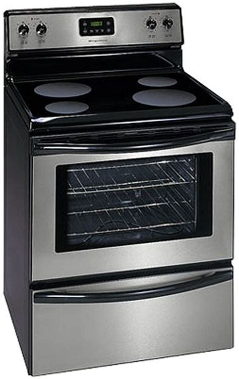 range oven frigidaire fef336ec free standing electric smoothtop range with manual clean oven stainless