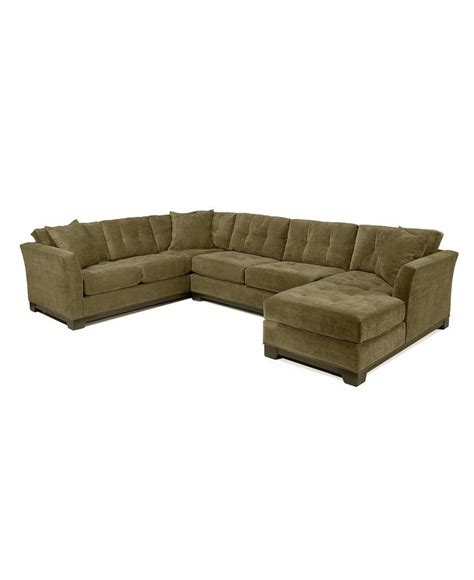Elliot Fabric Microfiber 3 Piece Chaise Sectional Sofa Microfiber Sectional Sofa
