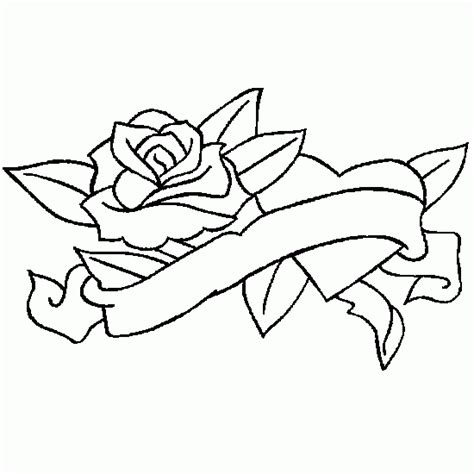 free coloring pages of flower heart