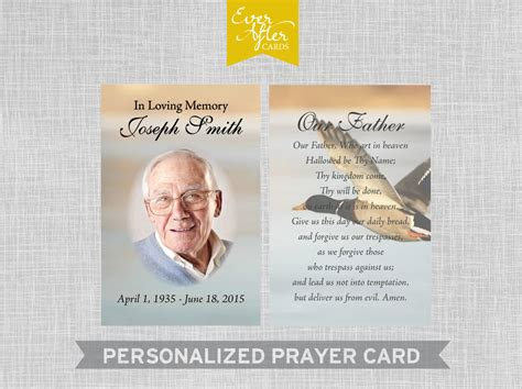 custom prayer photo prayer cards personalized by