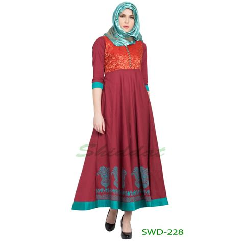 Green Ethnic Dress s dress in india maroon with green blocked