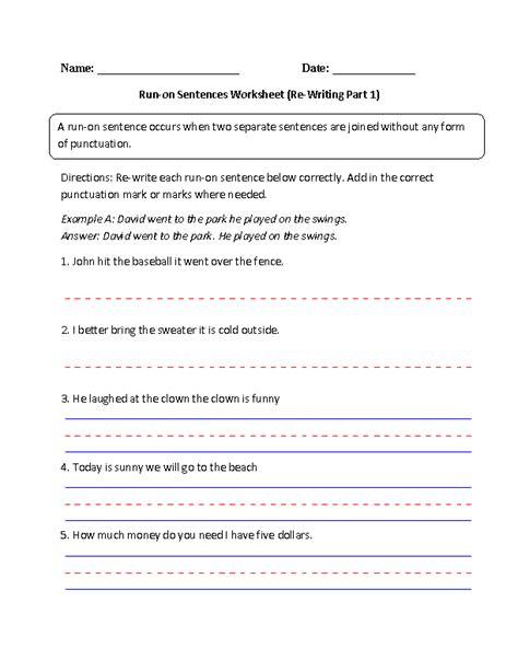 sentence pattern worksheet for grade 6 2nd grade sentences exles worksheets for all download