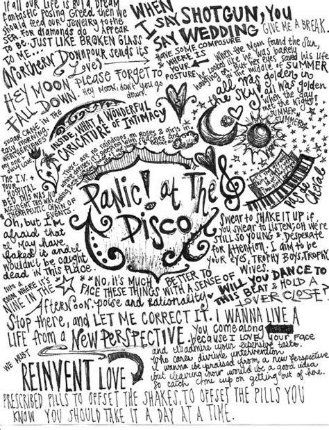 Panic At The Disco Cabin Songs by Panic At The Disco Lyrics Or Quotes I This Band