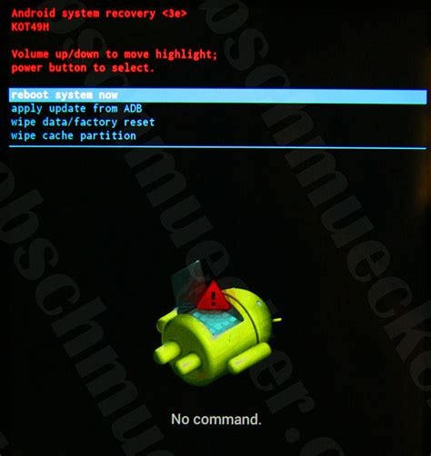 android recovery mode no command how to boot into recovery mode nexus 7