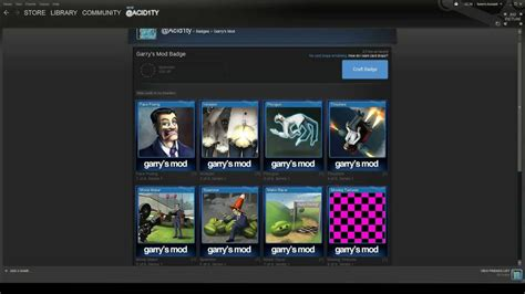 mod garry s mod steam steam trading cards garry s mod level 1 badge crafting