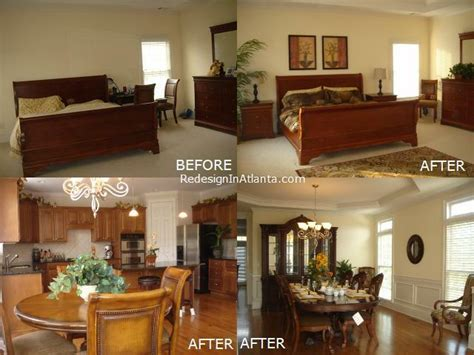 before and after decorating home design
