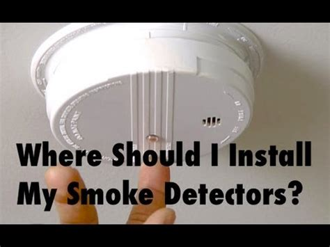 where to put smoke detector in bedroom where should i put smoke detectors in my house youtube