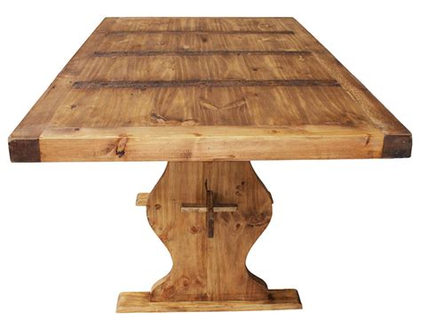 Rustic Pine Dining Tables Rustic Pine Collection Trestle Dining Table Mes01