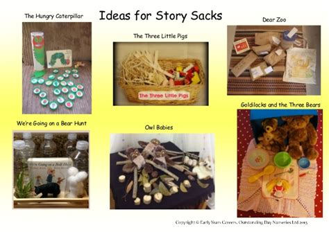Story Themes For Early Years | ideas for story sacks in the early years