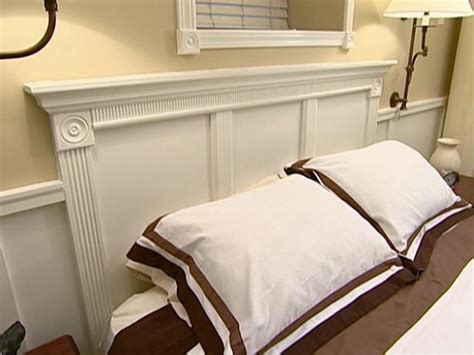 wainscoting headboard architectural headboard video hgtv