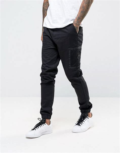 Side Pocket Boots From Asos by Lyst Asos Fit Cargo Jogger With Contrast Side
