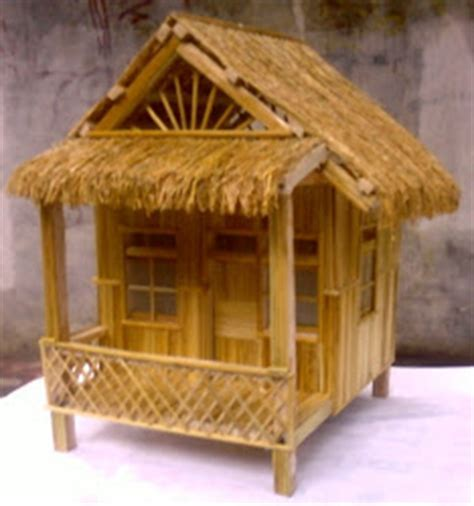 cara membuat miniatur rumah gadang dari kardus kerajinan miniatur rumah dari bungkus rokok
