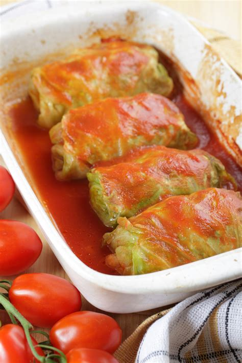 baked stuffed cabbage rolls bigoven