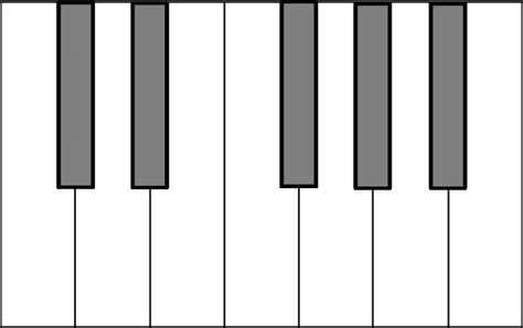 piano template blank piano keyboard diagram clip at clker