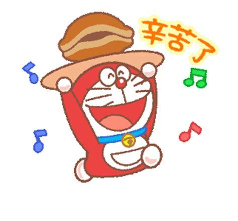 Sprei Doraemon Line No 3 No 4 Single line official stickers doraemon dorami animated stickers exle with gif animation