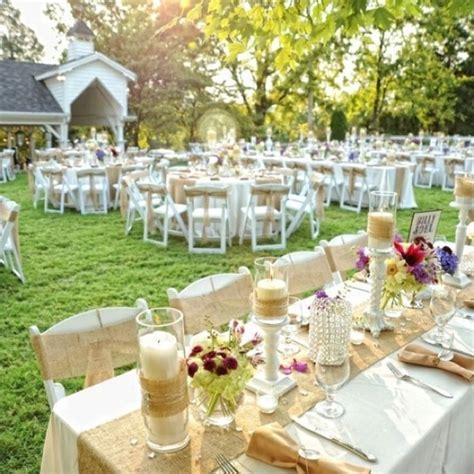 outdoor table setting burlap and lace outdoor table setting wedding ideas