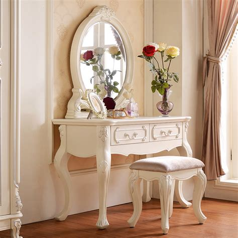 modern furniture princess wood dressing table dresser solid wood dresser custom ivory french in