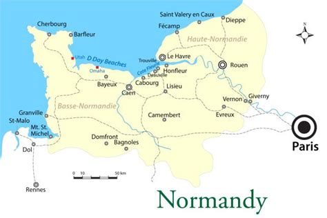 Normandy France Map by Image Gallery Omaha Beach France Map