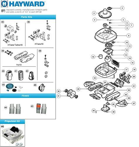 hayward 2 parts diagram hayward hayward navigator pro pool cleaner parts