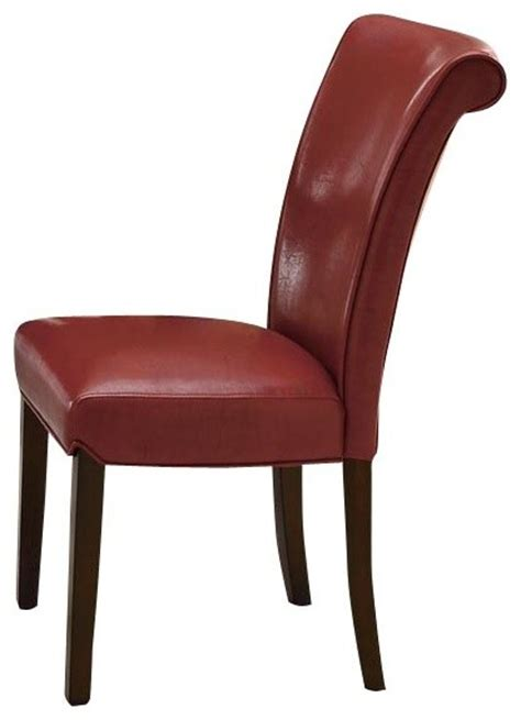 Monarch Specialties Transitional Side Chair In Burgundy Burgundy Dining Chairs