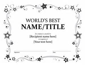template for award certificates certificates office