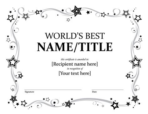 award certificate template certificates office