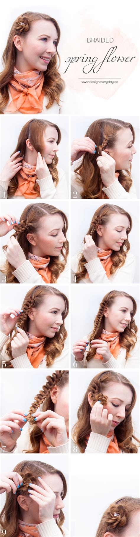 step bu step coil hairstyles spring flower hairstyle tutorial hair romance
