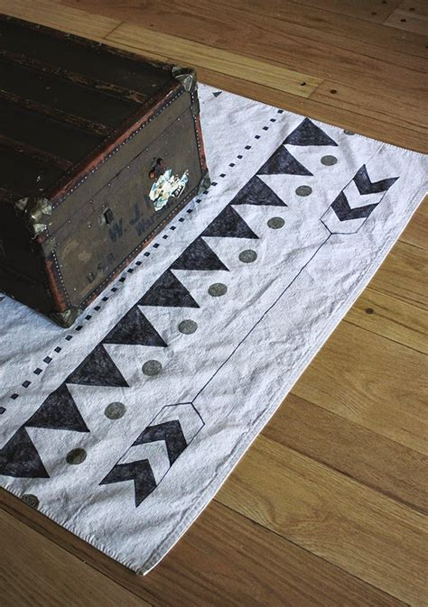 diy rug pad diy printed rug poppytalk
