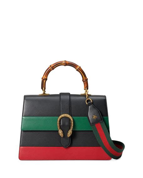 Gucci Dionysus Stripe Bamboo Top Handle Summer gucci dionysus striped bamboo top handle bag