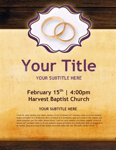 marriage flyer template flyer templates