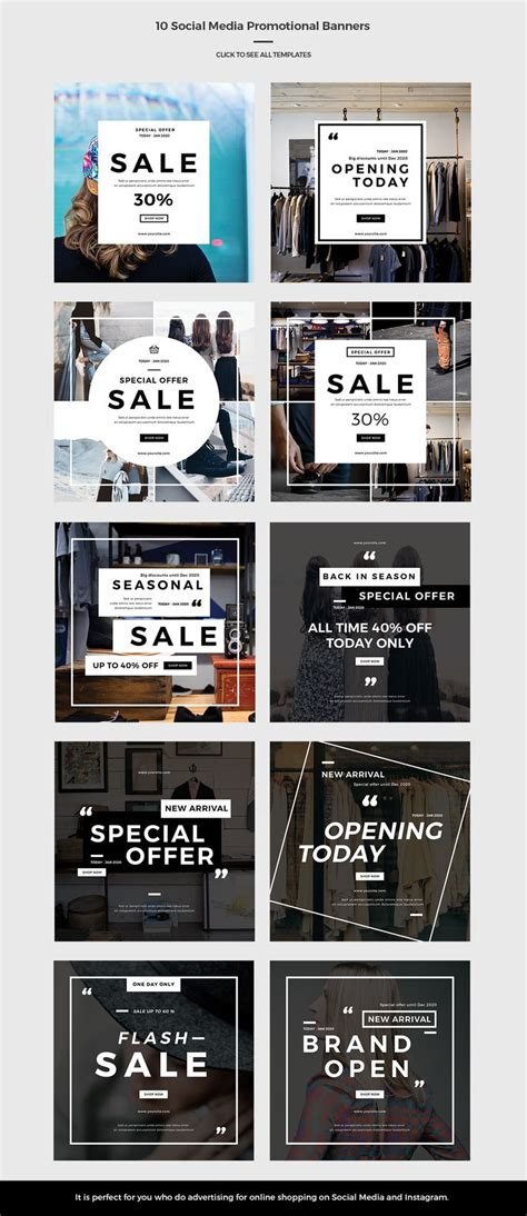 instagram layout inspiration best 25 promotional banners ideas on pinterest