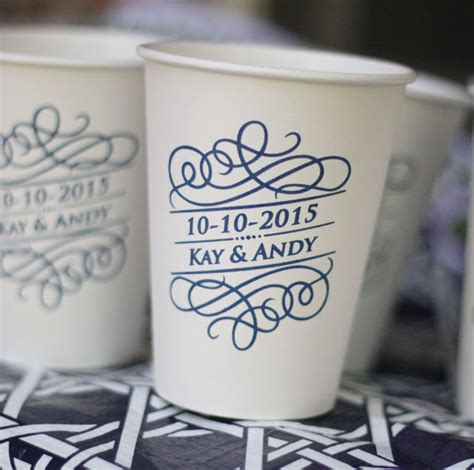 Papercup Wedding by Personalized Cups Paper Coffee Cups