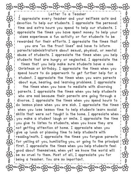 appreciation letter to him a letter to a this is awesome teachers are so