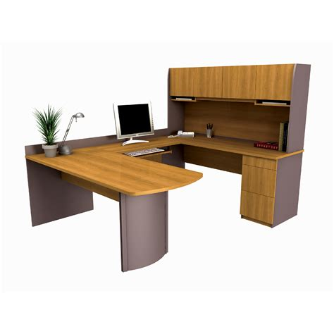 U Shaped Computer Desks Bestar 52412 6 Executive U Shaped Computer Workstation Desk Atg Stores