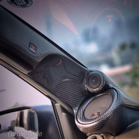 Audio Custom Box Innova Set carbon finished for custom a pillars focal