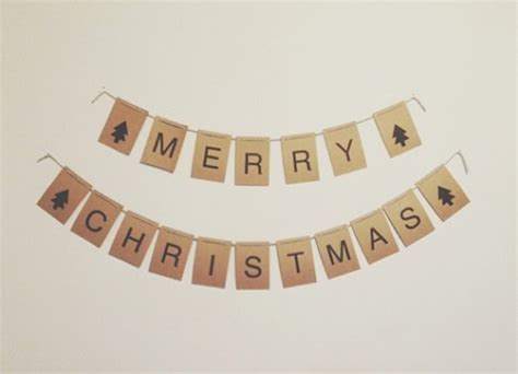 Christmas On The Frontier Bunting Template Allfreeholidaycrafts Com Merry Bunting Template