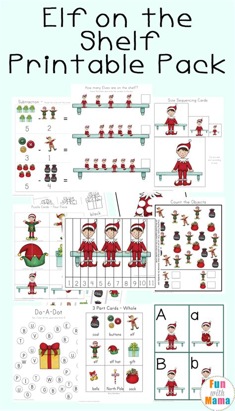 printable elf on the shelf image free elf on the shelf worksheets activities fun with mama