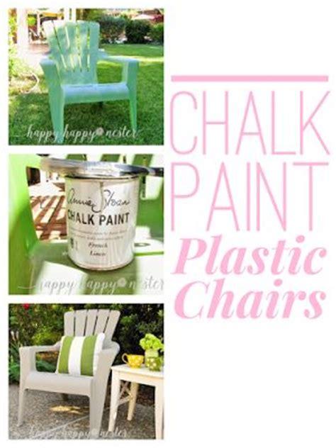 chalk paint plastic best 20 painting plastic chairs ideas on