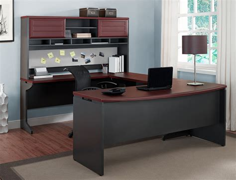 Office Furniture Executive U Desk Set Large Wood Computer Ebay Home Office Furniture