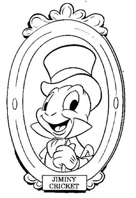 disney coloring pages jiminy cricket and pinocchio