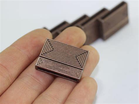 Magnetic Flat Clasp Antique Copper Buckle Clasp Geometric