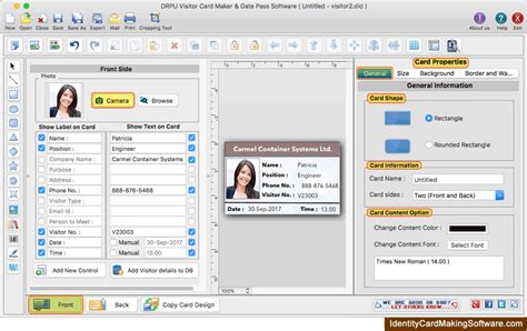 visitors id cards maker for mac screenshots to know how to visitors id cards maker for mac design visitor id card or